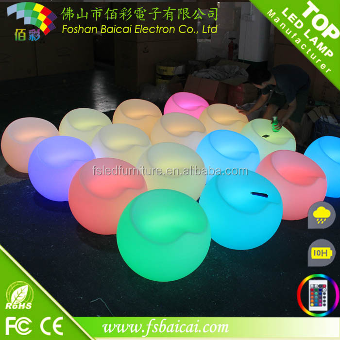 PE led funny chair outdoor plastic bar stools