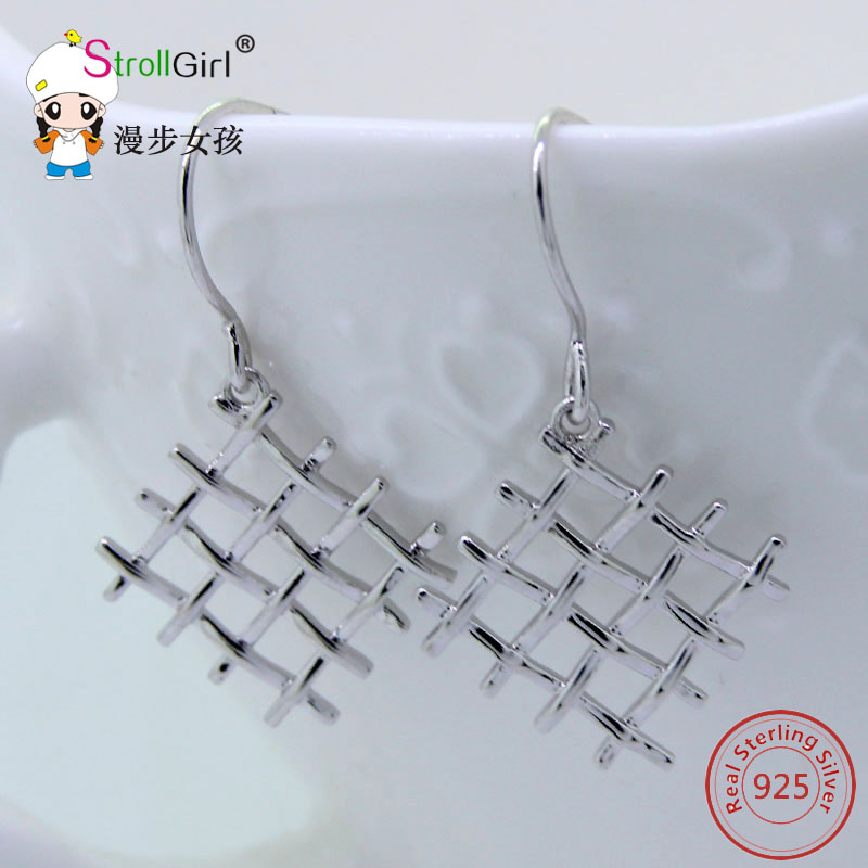 2017 Fashion Sterling Silver Earring Cat Dangling Earrings Jewelry