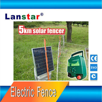 Lanstar solar powered farm electric fence energizer/ energiser plant fence products