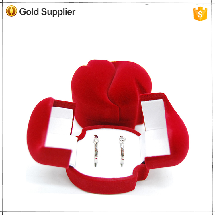 Promotional high quality fashion red rose ring box