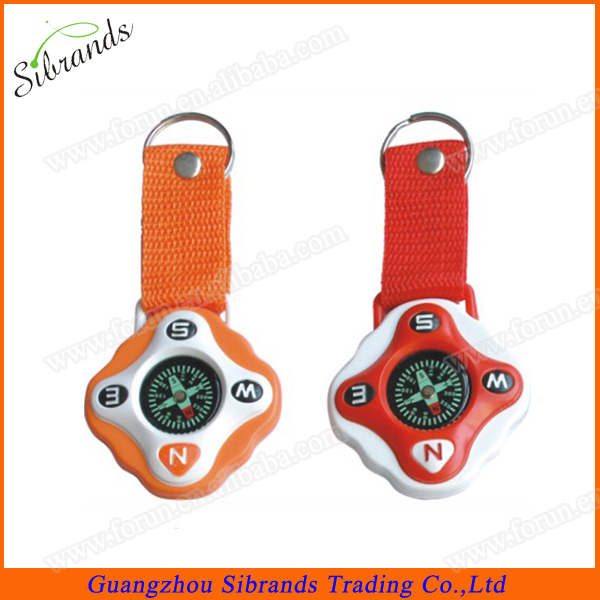 Durable Plastic Compass With Key Ring