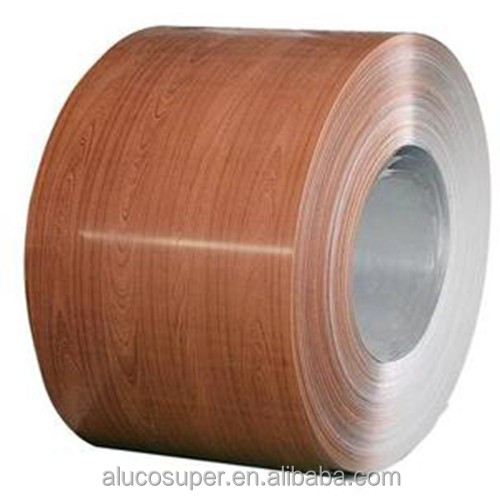 Prepainted wooden color grain <strong>aluminum</strong> coil for decoration