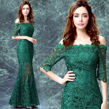 Sexy Cap Sleeve Green Evening Dresses 2016 Latest Floor Length Robe Longue Femme Soiree