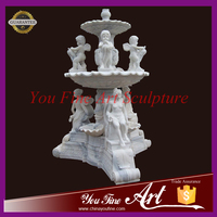 Garden Marble Water Fountains with Nude Lady and child Statue