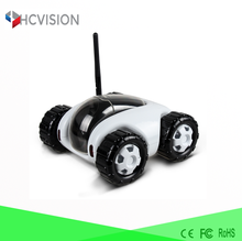 Low cost battery powered ip camera motion detection car toy controller moving wifi webcam