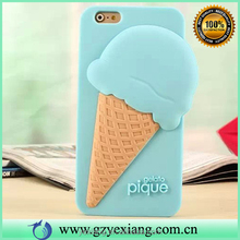 Newest arrival cute 3D ice cream soft silicon skin protective cover case for iphone 5 silicon back cover case