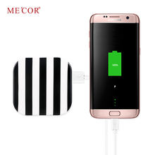 rechargeable folding led makeup power bank mirror