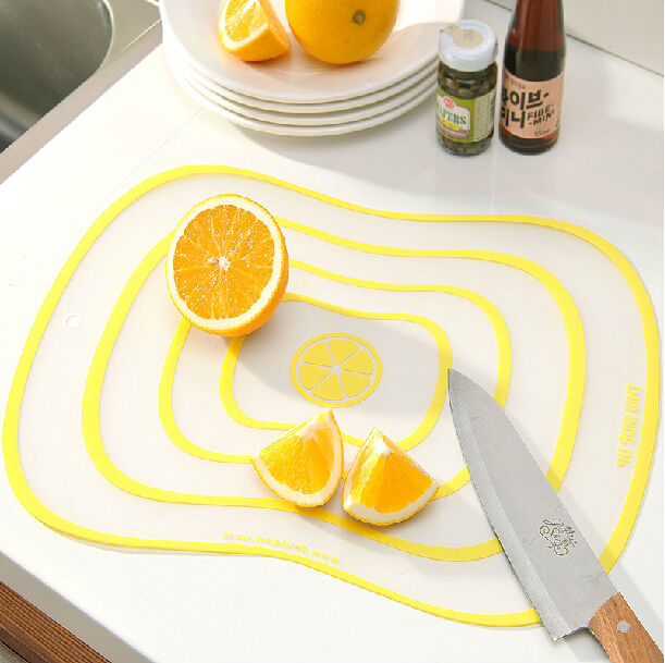 PP & TPR Antibiosis Kitchen Vegetable Plastic Cutting Board Chopping Mat