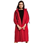 2018 Factory Manufacturer Windbreak Long Women Red Coat for Ladies