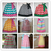 fashion girls long chevron printed dress kids girls cotton dress with zig zag new brand 2014 childrens summer autumn clothing