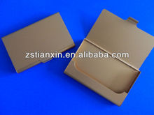 gold metal business card holder /gold blank aluminum name card case