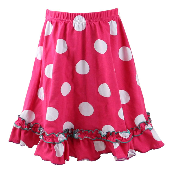 Kaiyo wholesale skirts girls boutique print cotton ruffle dress ,baby skirt top,12 year girl without dot dress
