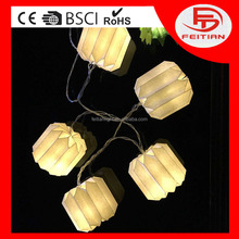 Holiday CE&ROHS led batter operated light string indoor decoration oval shaped paper pandent le light chain