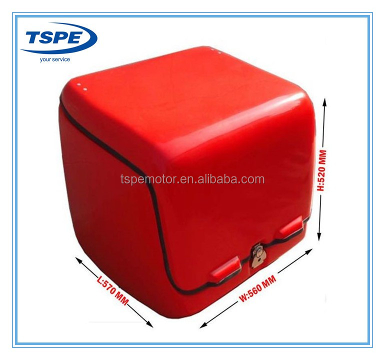 Red Fiberglass 139L Motorcycle Rear Luggage Box Tail box Rear Box