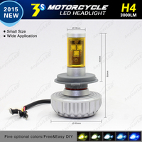 2015 Latest Anycar 3S H4 H7 3000lm LED Motorcycle Headlight
