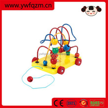 Educational bead string wooden toys for children