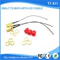 Top-selling SMA Female connector to ipex connector 0.81 coaxial rf cable assembly