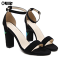 Beautiful Embroidery high heel woman sandals PL1821
