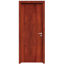 Cheap simple design interior walnut flat wooden door