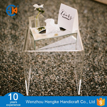 Small Clear Finish Acrylic Stacking Table Tray for Wedding