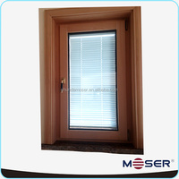 hot sale german aluminum clad wood turn and tilt wood windows