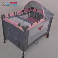 safety cot for baby with child safety door lock , playpens baby playpen with canopy