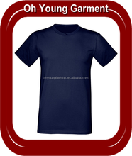 Cheap men's short sleeve slim fit cotton t shirt for sale, plain yarn mens fit us navy t shirts for sale in china