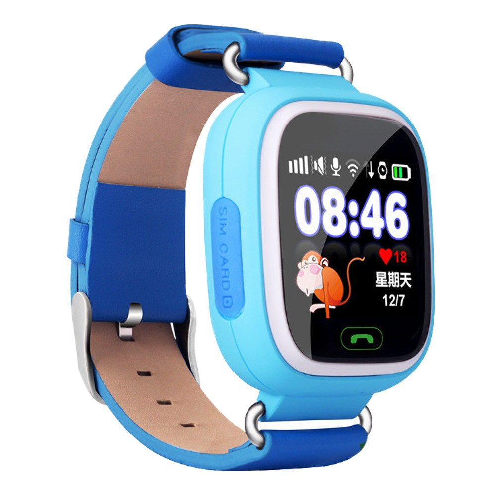1.22 inch Colorful Touch Screen Smartwatch Phone with SOS Call GPS Safe Anti Lost Monitor Kids