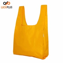 Luckiplus Reusable Shopping Bag Foldable Shopping Bag 100% Ripstop Nylon Yellow