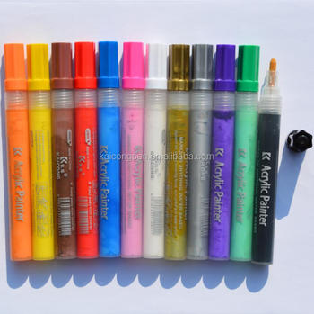 Poster water-based Acrylic marker,Valve Action Paint marker/colorful/wet-erase paint marker