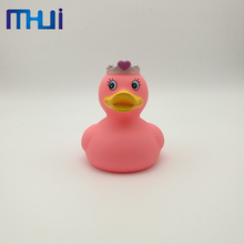 New promotion custom rubber pvc duck bath toy for wholesales