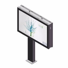 customized duble-sided P8 digital billboard led steel structure for sale