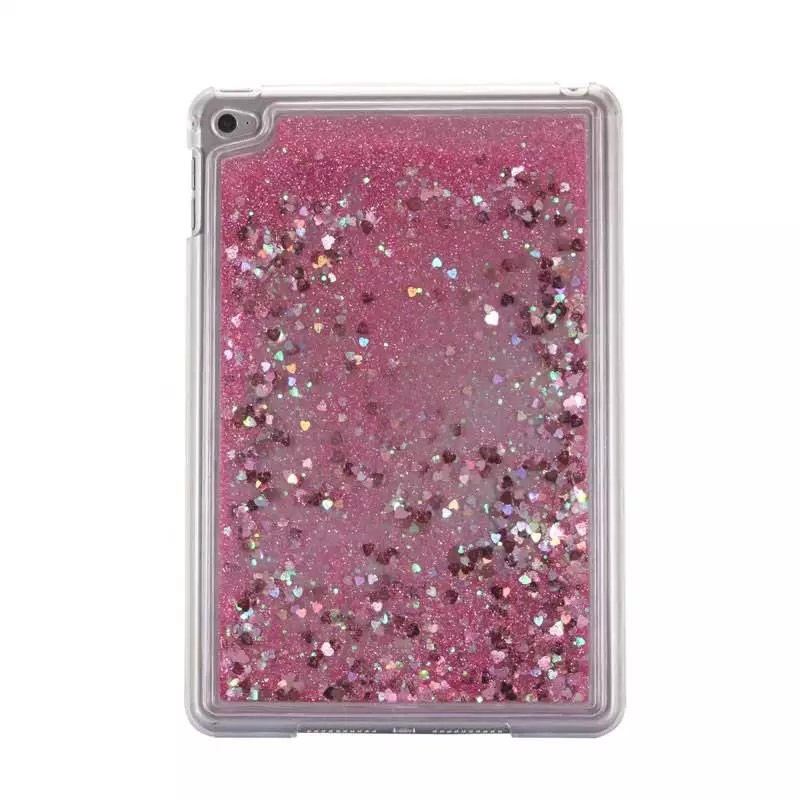 Hot selling Glitter Quicksand Tablet pc case for iPad Mini 4 Liquid back cover for ipad mini4 Plastic hard case