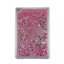 Hot selling Glitter Quicksand Tablet pc case for Apple iPad Mini 4 Liquid back cover for ipad mini4 Plastic hard case