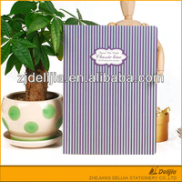 Fashion new design China striped exercise books for schools