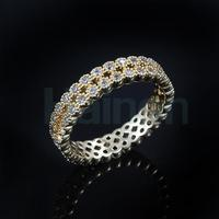 large stock ring for lady 2 circle paved aaa cz