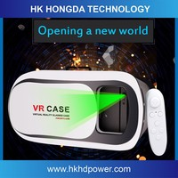 Plastic cardboard 3D active glasses Vr Virtual Reality case, Figment VR games 3d glasses for mobile phone
