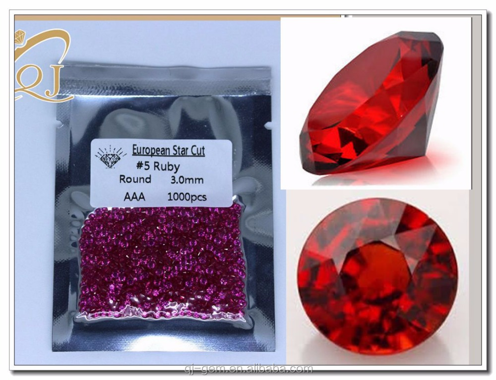 Fashional Gem Type and Nature Treatments Applied 3MM #5 rough ruby stone corundum price
