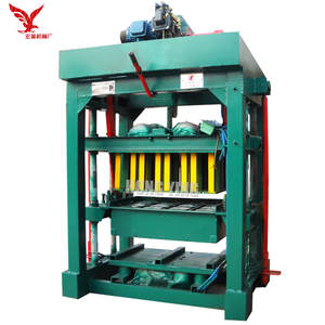 Hand Press Qtj4-40 Fly Ash Cement Brick Block Machinery