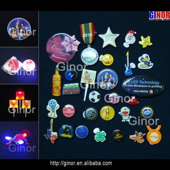 ODM designs led flashing badges