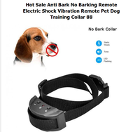 New Arrival Anti Bark Stop Controller No Barking Remote Electric Shock Vibration Dog Pet Training Collar
