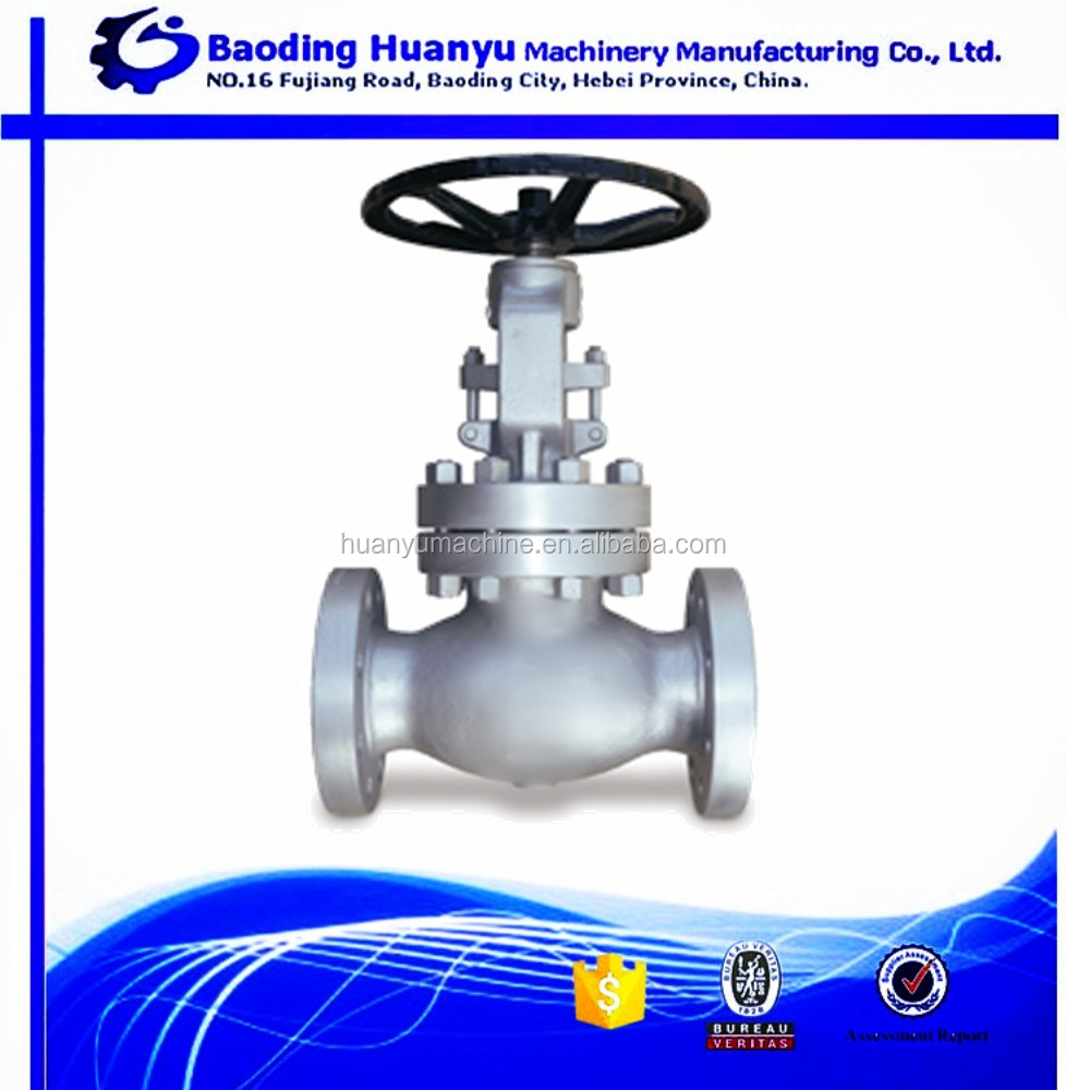 China supplier precision casting parts stainless steel globe valve for valve duct parts