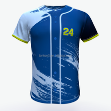 Custom Full Sublimation Button Down Baseball Jersey