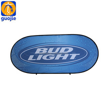 Outdoor steel Round Oval vertical pop up A frame banner for Golf Courses