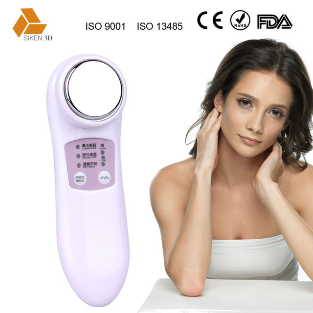 Elder face care make skin smoother galvanic & ionic facial massager with ce