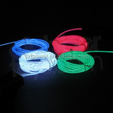 high brightness Lighting-up flat el wire/el chasing wire,flat cheap