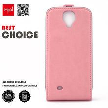 High quality ultra slim fit flip leather cell phone case for samsung galaxy s4 with strong magnet power for lady
