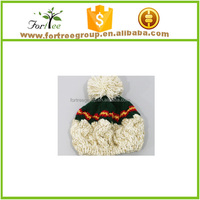 2015 winter child hats beanies child hats knitted hats with fur pom pom
