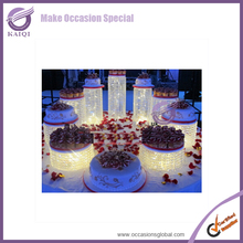 k7030 European design 5 Tier Sparkle Crystal Metal Cake Stand for Wedding Cakes
