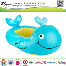 ICTI factory new design EN71 testing fashion customized design blue whale pvc baby inflatable animal bathtub